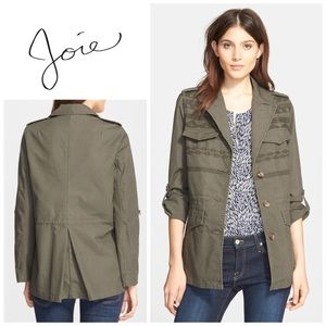 Joie Evandale embroidered  military jacket